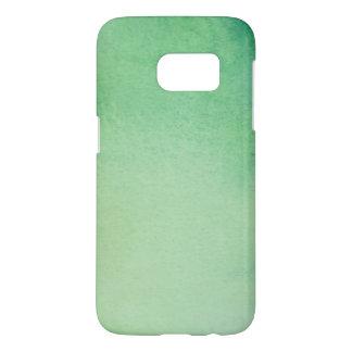 Green Watercolour Marble Samsung Galaxy S7 Case