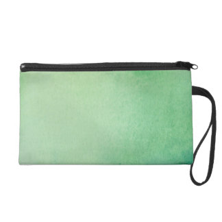 Green Watercolour Marble Wristlet