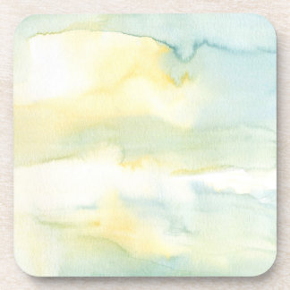 Green Watercolour Wash Coaster Set