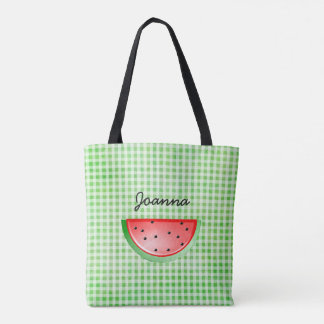 Green Watermelon Cooking Out Personalized Bag
