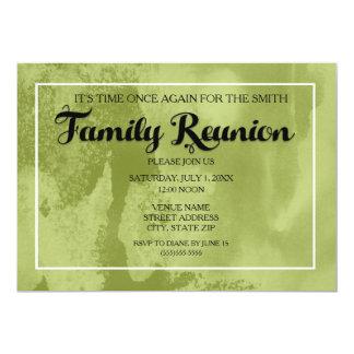 Green Waterpaint Family Reunion Invitation