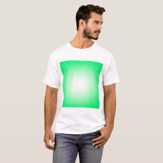 Green Wave Abstract Background, Creative Blurred L T-Shirt