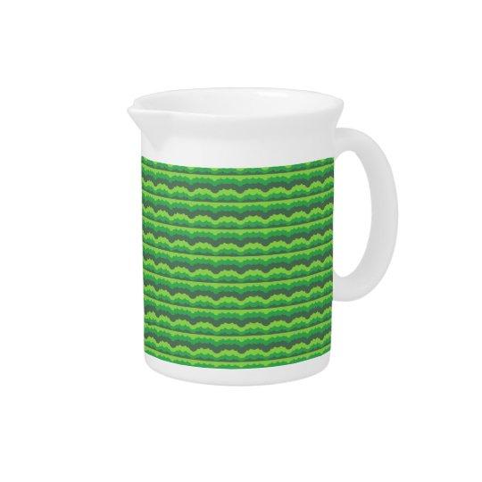 Green Wave Pattern Beverage Pitcher