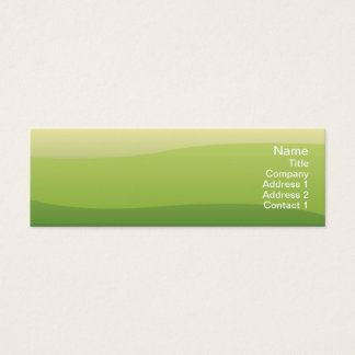 Green Waves - Skinny Mini Business Card