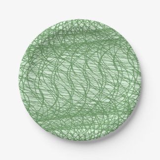 Green Webs Paper Plate