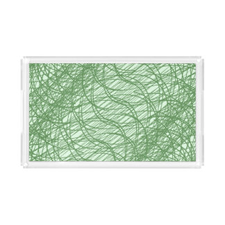Green Webs Serving Tray