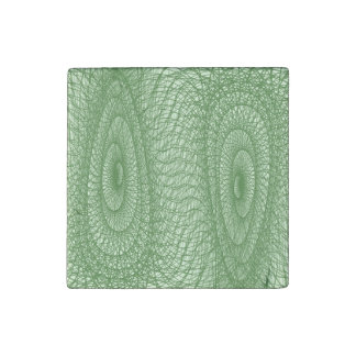 Green Webs Stone Magnets