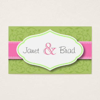 Green Wedding Thank You Favor Cards