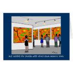 "Green Weenii ""Art Exhibit"" Greeting Card"