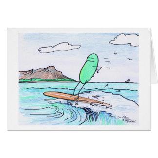 """Green Weenii """"Green Hawaii"""" Note Card"""