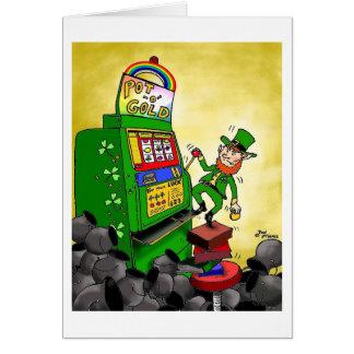"Green Weenii ""The Luck of the Irish"" Greeting Card"