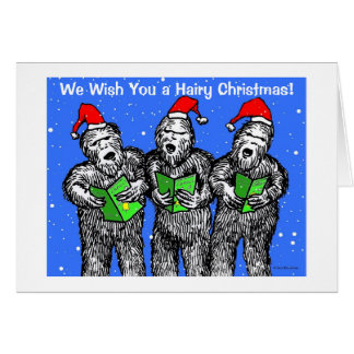 "Green Weenii ""We Wish You a Hairy Christmas"" Card"