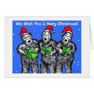 "Green Weenii ""We Wish You a Hairy Christmas"" Card"