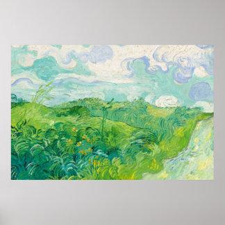 Green Wheat Fields Auvers (F807) Van Gogh Fine Art Poster