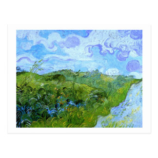 Green Wheat Fields Van Gogh Fine Art Postcard