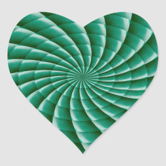 Green Wheel Chakra TEMPLATE add TEXT IMG customize Heart Sticker