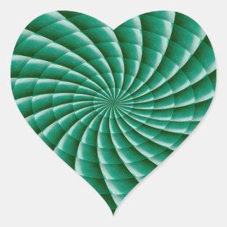 Green Wheel Chakra TEMPLATE add TEXT IMG customize Heart Sticker