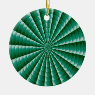 GREEN Wheel Chakra TEMPLATE add TXT IMG Customize Round Ceramic Ornament