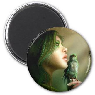 Green Whisper Magnet