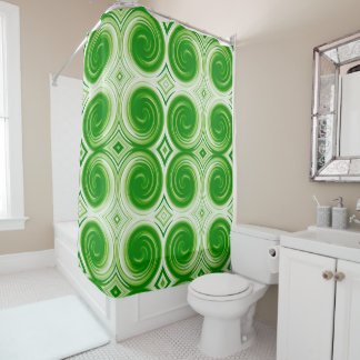 Green White Abstract Swirl Pattern