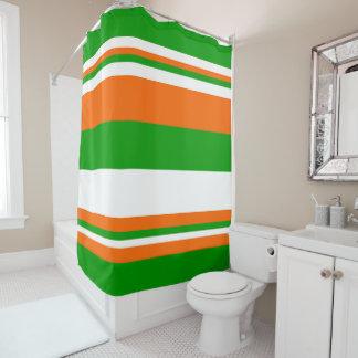 Green, White and Orange Stripes