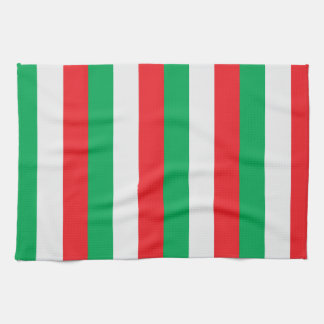 Green, white and red - Italian flag Towels