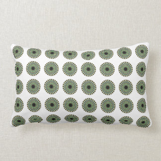 Green White Black Geometric Star Pillow