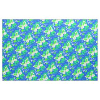 Green, White, Blue Butterfly Pattern