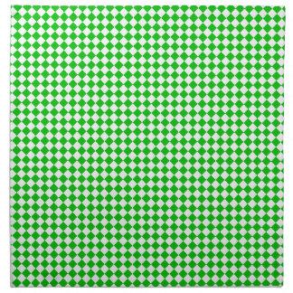Green white checkered set of napkins