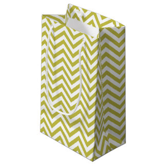Green/White Chevron Pattern Small Gift Bag