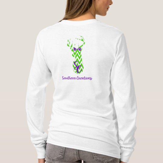 Green & White Chevron Southern Creatives Logo T-Shirt