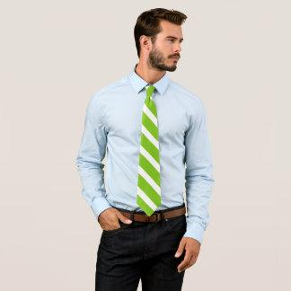 green/white diagonal stripes tie