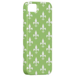 Green & White Fleur De Lis Pattern iPhone 5 Cover