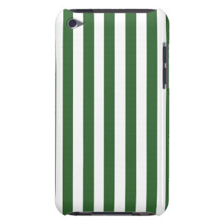 GREEN WHITE FUN BOLD STRIPES PATTERN iPod TOUCH CASES