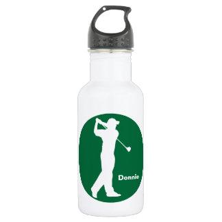 Green White Golfer Golf Personalized 532 Ml Water Bottle