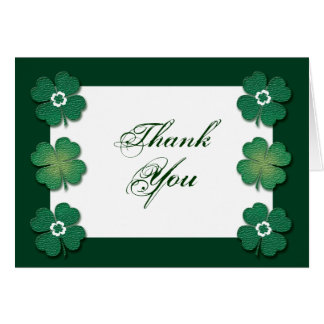 Green white Irish wedding anniversary Card