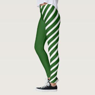 Green & White Jester Leggings