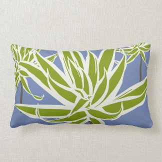 Green White Leaves Decor#13a Modern Lumbar Pillow