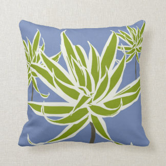 Green White Leaves Decor#13a Modern Throw Pillow