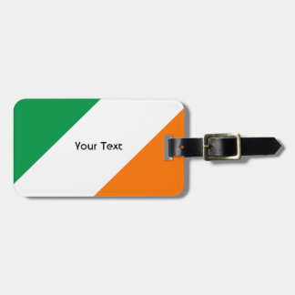 Green White Orange Stripes Luggage Tag