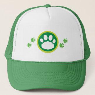 Green & White Paws Animal Lover's Trucker Hat
