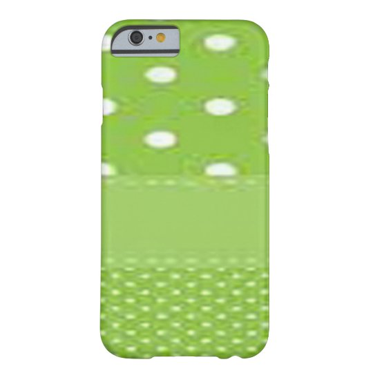 Green & White Polka Dots Barely There iPhone 6 Case