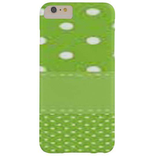 Green & White Polka Dots Barely There iPhone 6 Plus Case