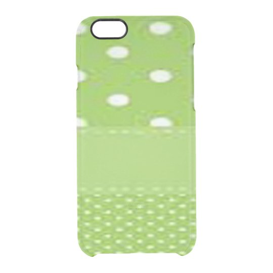 Green & White Polka Dots Clear iPhone 6/6S Case