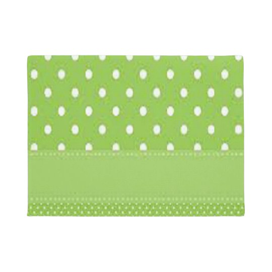 Green & White Polka Dots Doormat