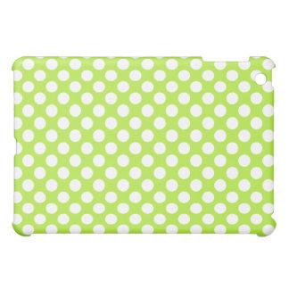 Green White Polka Dots - iPad Mini Case