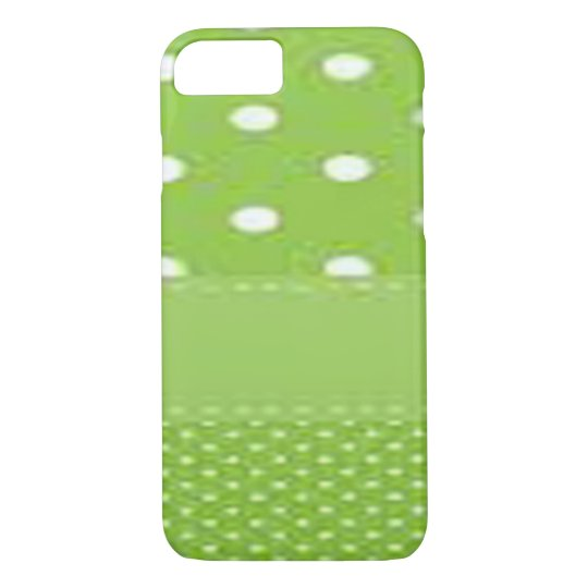 Green & White Polka Dots iPhone 7 Case