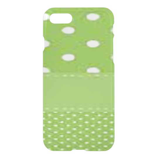 Green & White Polka Dots iPhone 7 Case