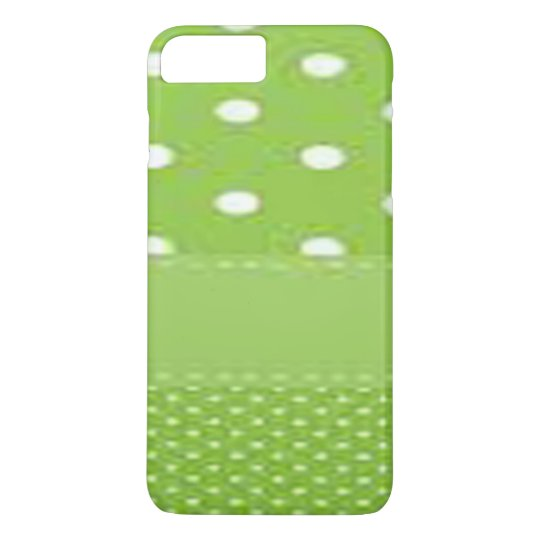 Green & White Polka Dots iPhone 7 Plus Case
