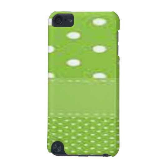 Green & White Polka Dots iPod Touch 5G Covers